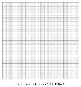 Gray grid paper - technical engineering line scale measurement 100mm patch, vector