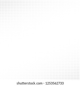 Gray Halftone of halftone dots on white background for text