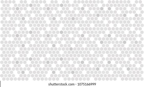Gray hexagonal background. Abstract hexagon pattern. Vector illustration EPS10