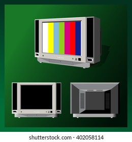 Gray high detailed TV vector