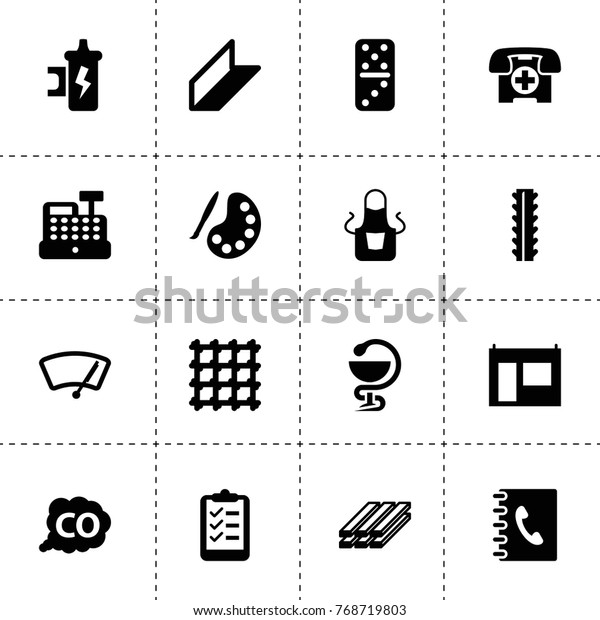 Gray Icons Vector Collection Filled Gray Stock Vector