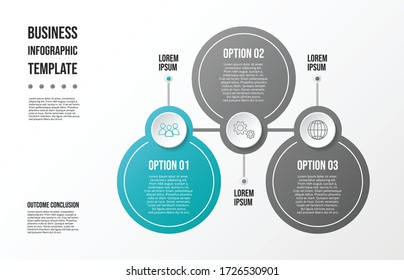 Gray infographic template. Timeline with business icons. Vector