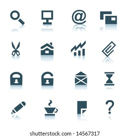 Gray internet icons, part 1
