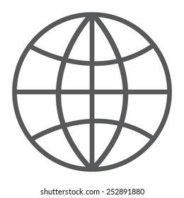 gray Internet - vector icon