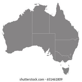 Gray map of Australia