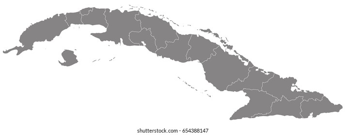 Grey isolated political cuba map south stock illustration 403892515 gray map of cuba gumiabroncs Gallery