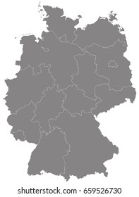 Gray map of Germany