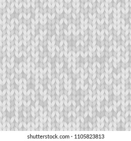 Gray melange knitted fabric seamless pattern, vector