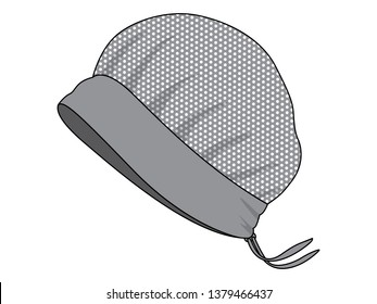 Gray Mesh Factory Cover Hair Hat Vector
