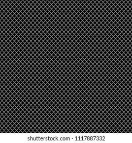 Gray metal diamond mesh pattern seamless luxury background texture vector illustration.