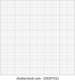 Gray millimeter paper background. Square grid background. Vector illustration.