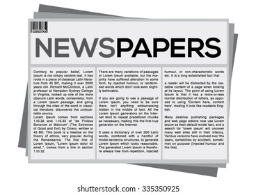 Gray Newspapers On White Background
