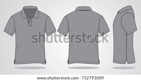 Gray Polo Shirt For Template