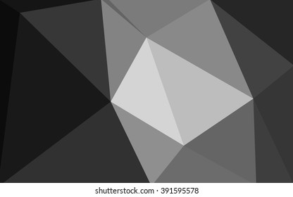 Gray polygonal illustration, which consist of triangles. Geometric background in Origami style with gradient. Triangular design for your business.