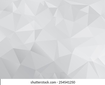 Gray Polygonal Mosaic Paper Background, Vector illustration
