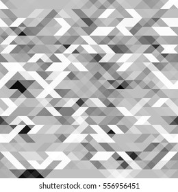 Gray polygonal seamless pattern. Grayscale futuristic geometric texture. Can be used in web design as a webpage background. Vector. Made using clipping mask