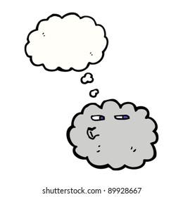 gray raincloud cartoon