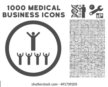 Gray Religion Adepts vector rounded icon. Image style is a flat icon symbol inside a circle, white background. Bonus clipart includes 1000 healthcare business symbols.