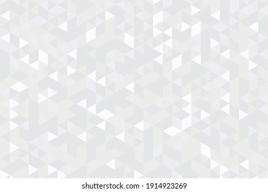 Gray scale abstract triangle seamless pattern background. Mosaic geometric hipster triangular background. Vector Illustration