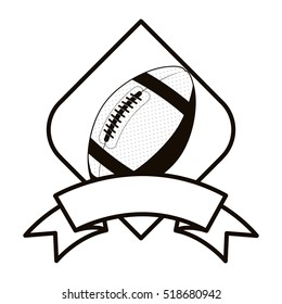 gray scale football tournament emblem with ball