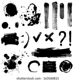Gray scale signs and blots
