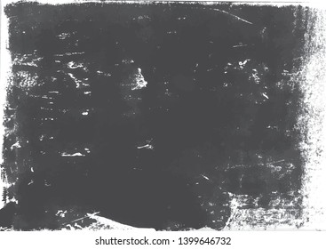 A gray scale vector tracing of a grungy lino print. Ideal for creating artistic textured or aged effects.