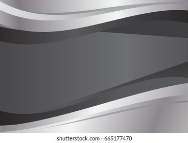 Gray and silver wave abstract vector background