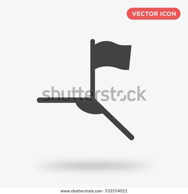 Gray soccer corner icon illustration isolated vector, flag sign symbol