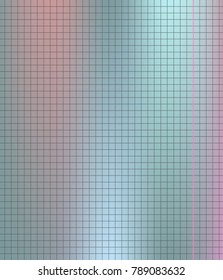 Gray square notebook on silver turquoise pink gradient sheet school paper background.