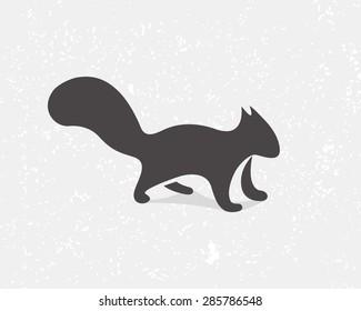 Gray squirrel logo or icon
