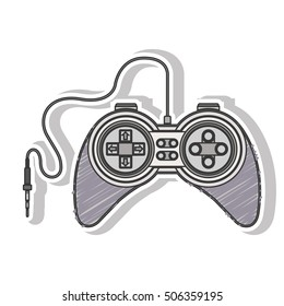 gray striped remote control games with jack connector