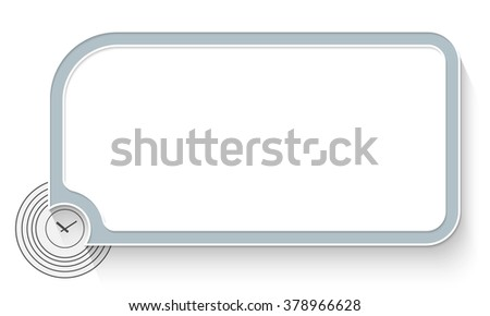 Gray Text Box Your Text Watches Stock Vector Royalty Free