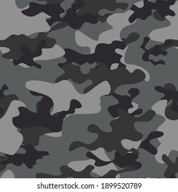 gray trendy vector camo army night texture for fabric, paper