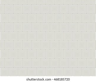 Gray Tunnel Square Pattern