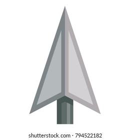 Gray vector arrowhead