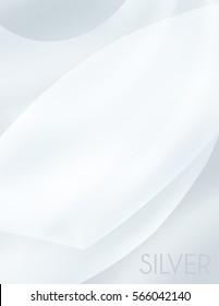 Gray wallpaper. Abstract blurred silver background. Grey vector graphic pattern