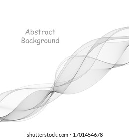 gray wave. abstract vector graphics