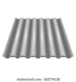 Gray wavy slate. Slate Roofing. Vector illustration on white background
