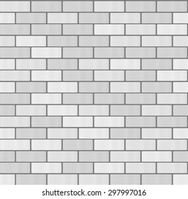 Gray White brick wall seamless pattern  background. Modern flat pictogram concept. Trendy Simple vector symbol for web site design or button to mobile app. Logo illustration.