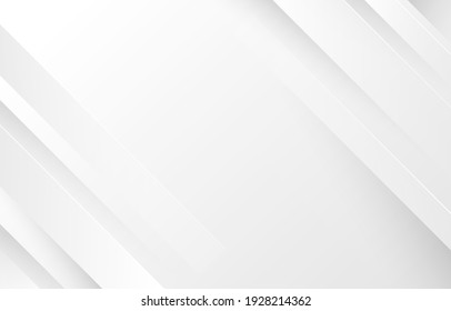 Gray and white diagonal line architecture geometry tech abstract subtle background vector illustration.