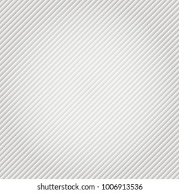 Gray and white gradient diagonal lines pattern. Repeat stripes texture background, Vector illustration