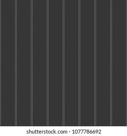 Gray and White Pinstripes Seamless Pattern - Simple double white pinstripes on dark gray background seamless pattern