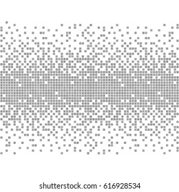 Gray and white pixel background.  Abstract hi tech vector Illustration. Modern technology design. Digital art.