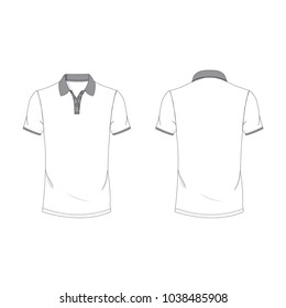 Gray and white polo T-shirt template using for fashion cloth design and assessorie for designer to make mock up or blue print in copany.