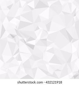 Gray White Polygonal Background, Creative Polygon Design Templates
