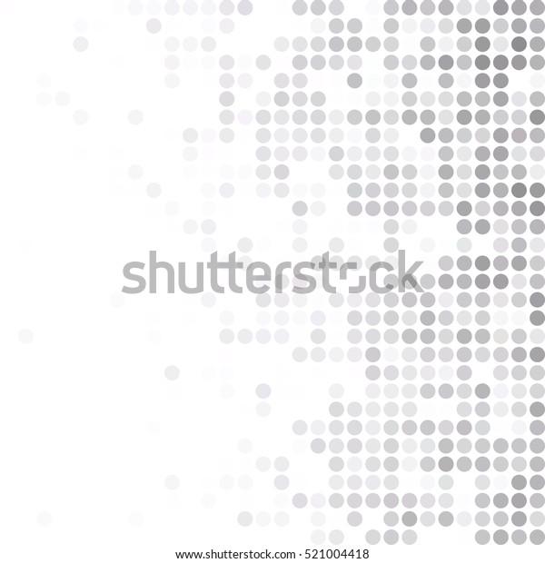 白いランダムドットの背景にグレー、クリエイティブデザインテンプレート