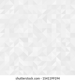 Gray and white seamless triangle  pattern. Abstract vector background. Festive banner. Beautiful  ice background.