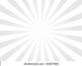 gray and white Sunburst Pattern. Sunburst background.  Vector illustration.