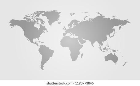 Gray World Map Vector Illustration Design