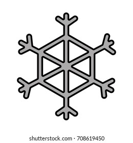grayscale beauty snowflake decoration design of christmas